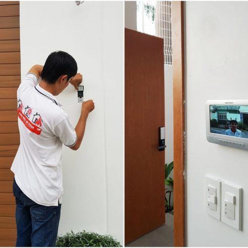 Lắp đặt camera chuông cửa, thiết bị báo động quận 12 HCM